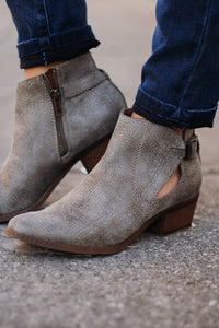{Last Chance} Not Rated Priscilla Booties ~ Grey *FINAL SALE* - Be You Boutique