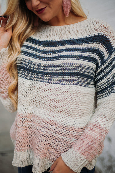 *NEW* Precious Long Sleeve Striped Sweater ~ Multi