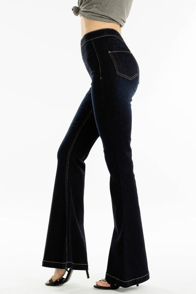 Kancan Fabulous Flare Jeans ~ Dark Wash - Be You Boutique