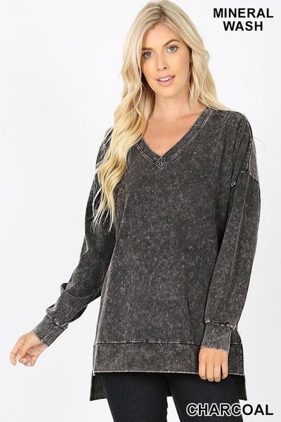 *NEW* Rebecca Mineral Wash V Neck Top **AMAZING DEAL ~ FINAL SALE**