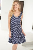 {Last Chance} Cecilia Stripe Baby Doll Dress *FINAL SALE*