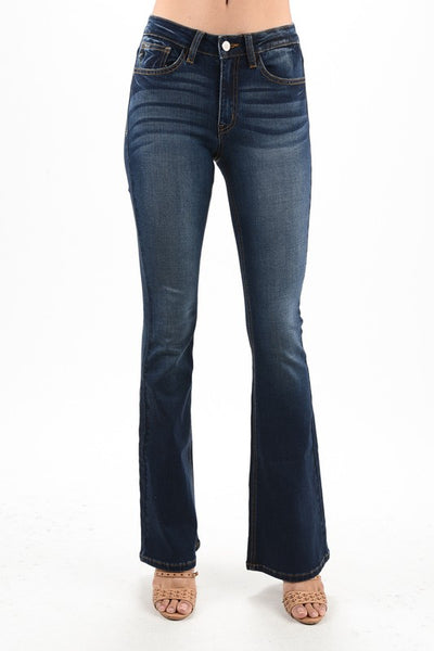 Kancan Hatfield Mid Rise Boot Cut Jeans ~ Dark