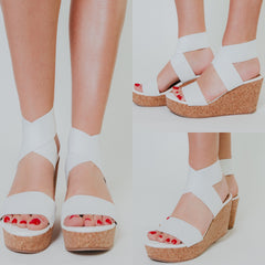 *NEW* Mandaya Wedges ~ White - ShopBeYouBoutique
