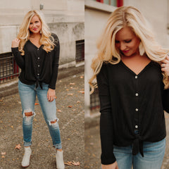 {LAST CHANCE} Oh So Soft Knit Raglan Sweater Top ~ Black