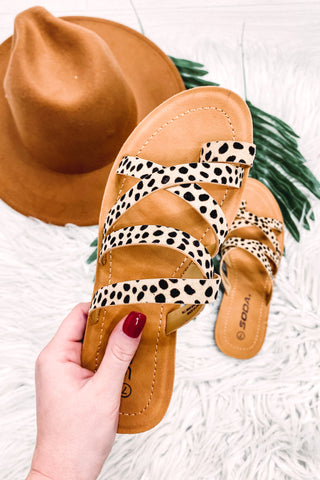 Isabel Multi Strap Animal Print Sandal