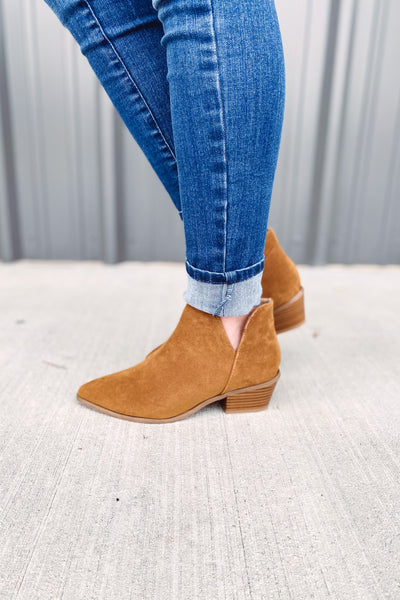 {Last Chance} Desire Tan Booties **FINAL SALE**