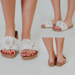 *NEW* Not Rated Cinnamon Sandals ~ White - ShopBeYouBoutique