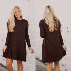 PIKO Easy Goes It Dress/ Tunic ~ Dark Brown