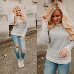 *NEW* Warm Me Up Sweater ~ Grey