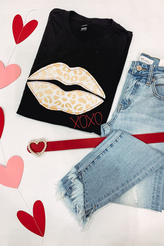 *NEW* Animal Print Lips Tee