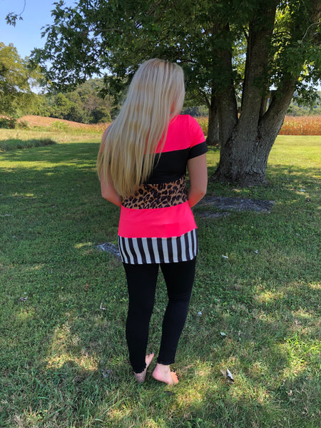 *NEW* Crazy Train All Good Things Top ~ Animal Print Mix - ShopBeYouBoutique