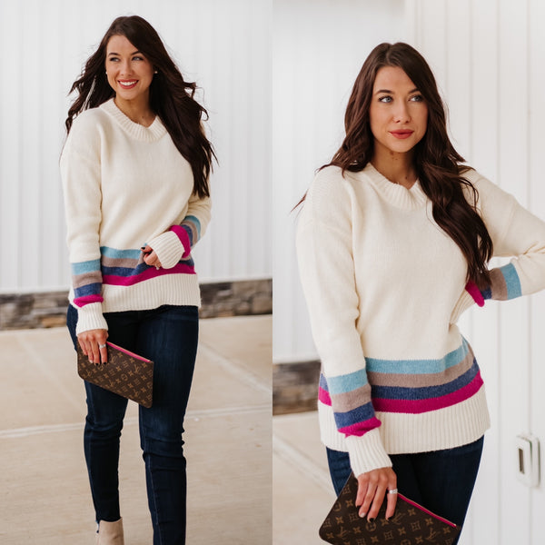 *NEW* Ivy Striped Knit Sweater