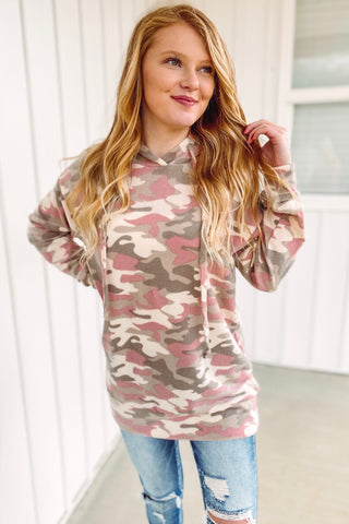 *NEW* Claire Camo Print Hoodie