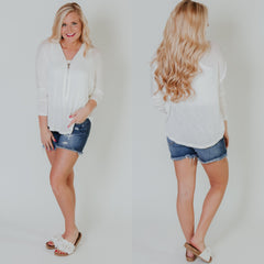 *NEW* Simple Summer Sweater ~ Ivory - ShopBeYouBoutique
