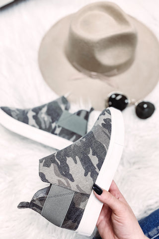*NEW* Diana Camo Wedge Sneaker