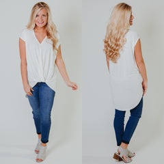 *NEW* Tied In Knots Tunic ~ Ivory - ShopBeYouBoutique