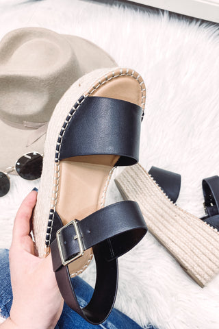 Census Platform Sandals ~ Black