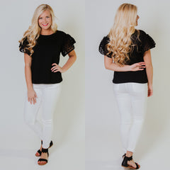 *NEW* Be My Eyelet Top ~ Black - ShopBeYouBoutique