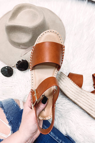 Census Platform Sandals ~ Tan
