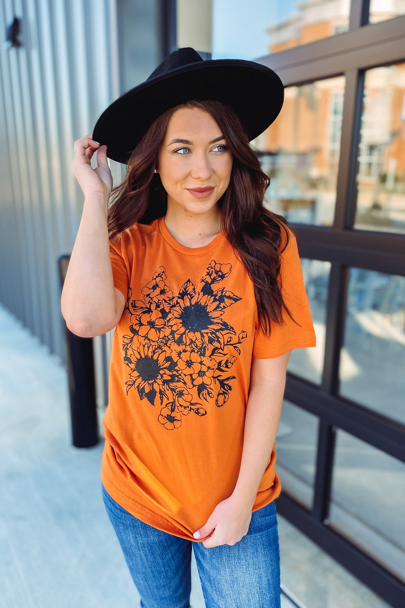 {Last Chance} Sunflower Drawing Tee **FINAL SALE**