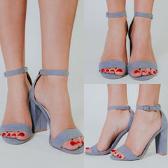 *NEW* Cashmere Sue Heels ~ Sea Grey Blue - ShopBeYouBoutique