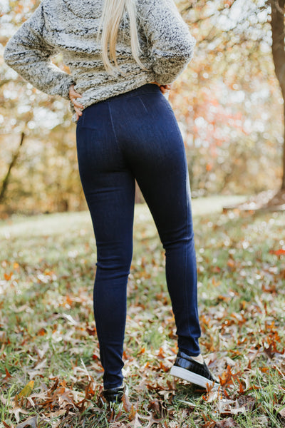 {Last Chance} Kancan Juniper Denim Jeggings ~ Dark Wash *FINAL SALE* - Be You Boutique