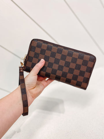 *New* Harley Checkered Wallet Wristlet