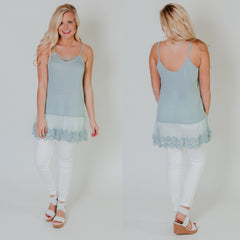 *NEW* Criss Cross Cami Tunic Top ~ Mint - ShopBeYouBoutique