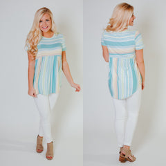 *NEW* Be My Baby Tunic ~ Mint Stripe - ShopBeYouBoutique