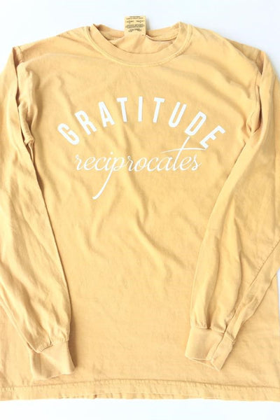 Gratitude Reciprocates Graphic Tee - ShopBeYouBoutique