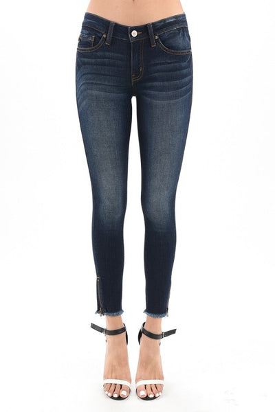 Kancan June Ankle Skinny ~ Dark Wash - Be You Boutique