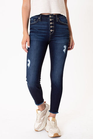 *New* Kancan Hank Button Fly High Rise Ankle Skinny Jeans