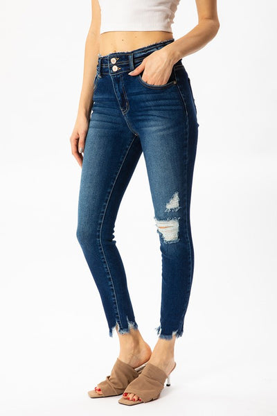 *NEW* Kancan Kara High Rise Ankle Skinny Jeans ~ Dark Wash - Be You Boutique