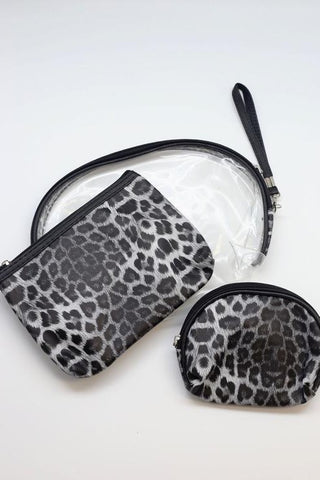 Caroline Hill Kessler Animal Print Pouch set