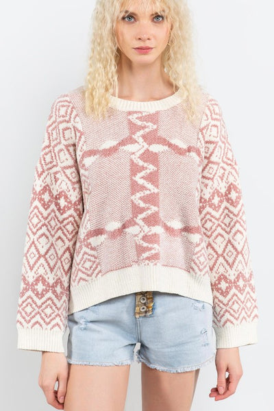*NEW* POL Jacqui Chic Sweater ~ Mauve - ShopBeYouBoutique