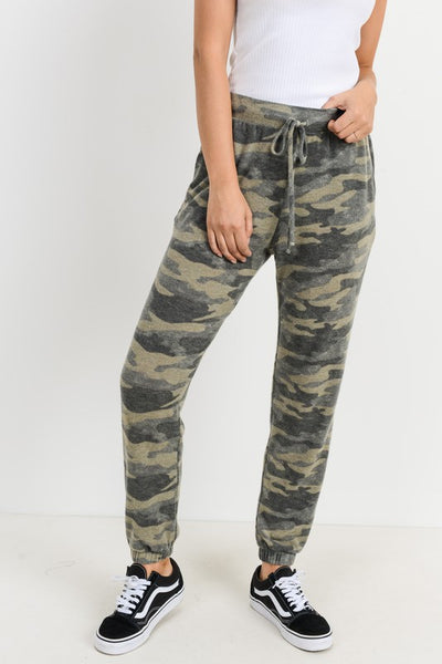 *NEW* Alicia Ever So Soft Jogger Pants ~ Camo - ShopBeYouBoutique