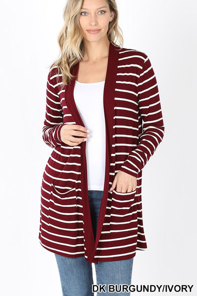 *NEW* Rosalie Striped Slouchy Pocket Cardigan -**AMAZING DEAL ~ FINAL SALE**