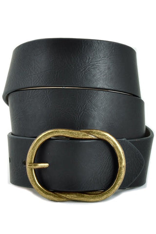 *New* Vinny Vintage Vegan Leather Belt with Brass Buckle