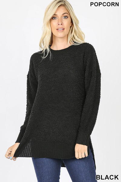Alana Long Sleeve Round Neck Popcorn Sweater - **BLACK FRIDAY SPECIAL ~ FINAL SALE**