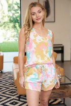 {Last Chance} Mariah Tie Dye Sleeveless Lounge Wear Set *FINAL SALE*