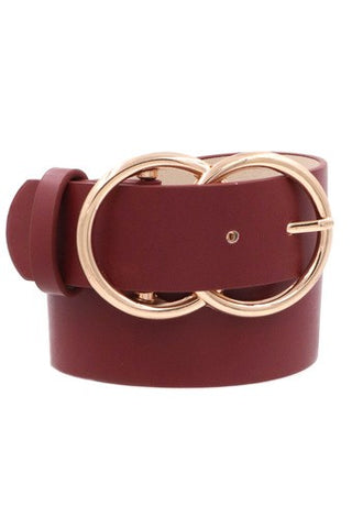 *NEW* Bianca Leather Belt ~ Wine