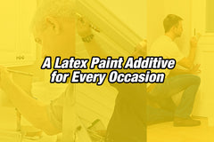 Why is latex added to paint