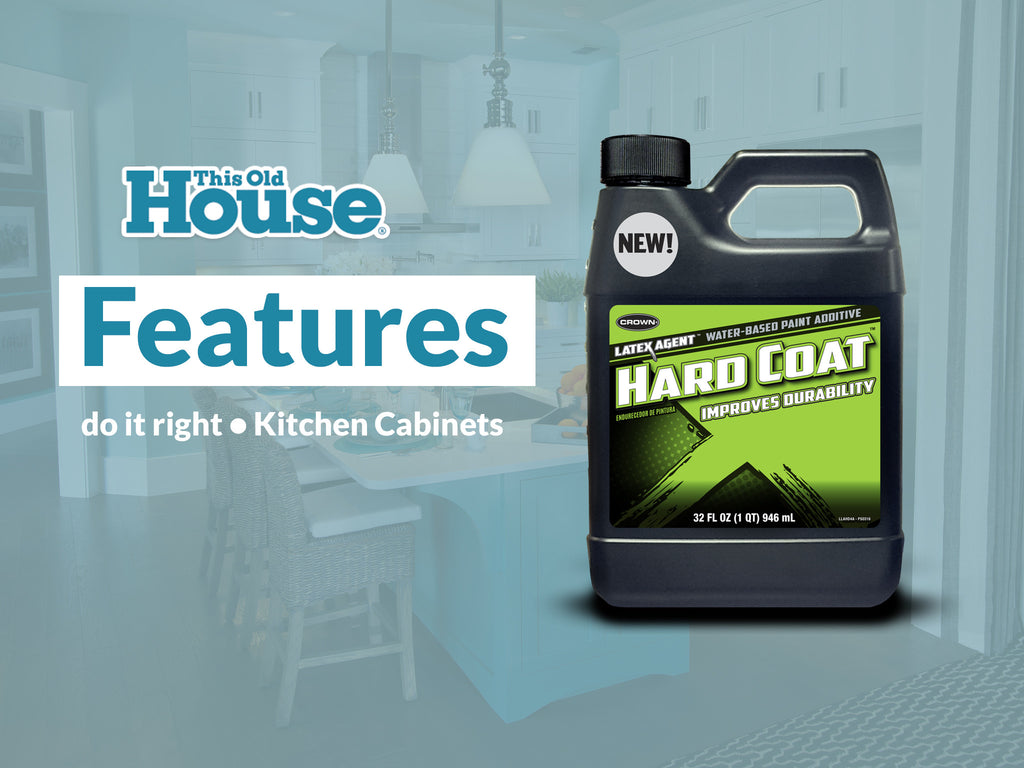 This Old House: Paint Your Kitchen Cabinets with Hard Coat – Latex ...