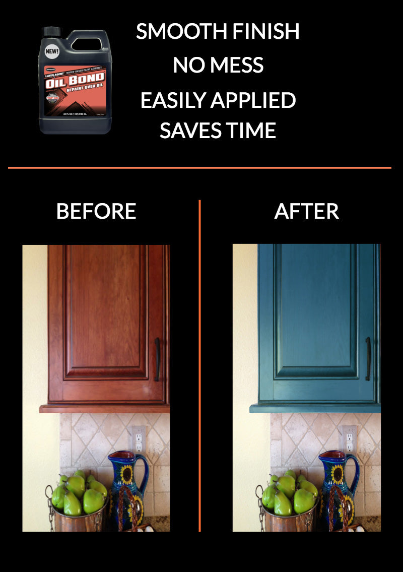 Kitchen Cabinets Before After - Oil Bond