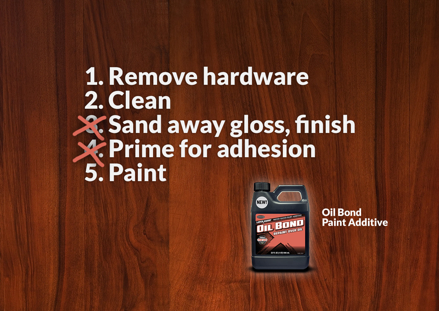How To Paint Stained Wood: From Five Steps To Three