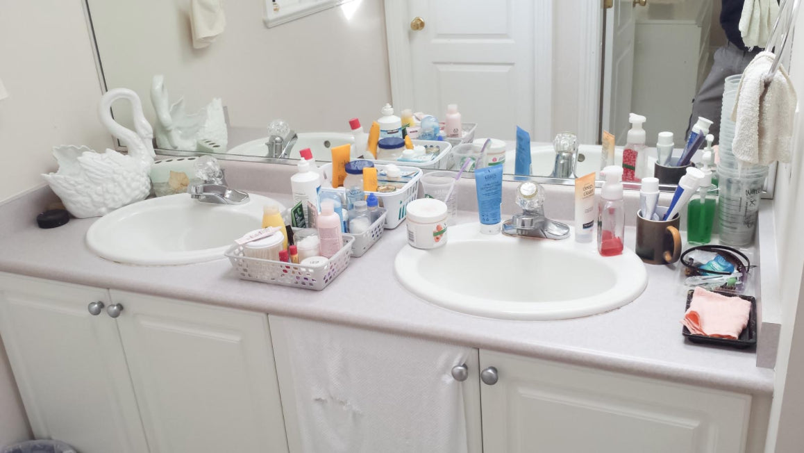 Bathroom Vanity Before Upsell