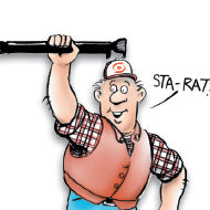 Sta-Rat Cartoon