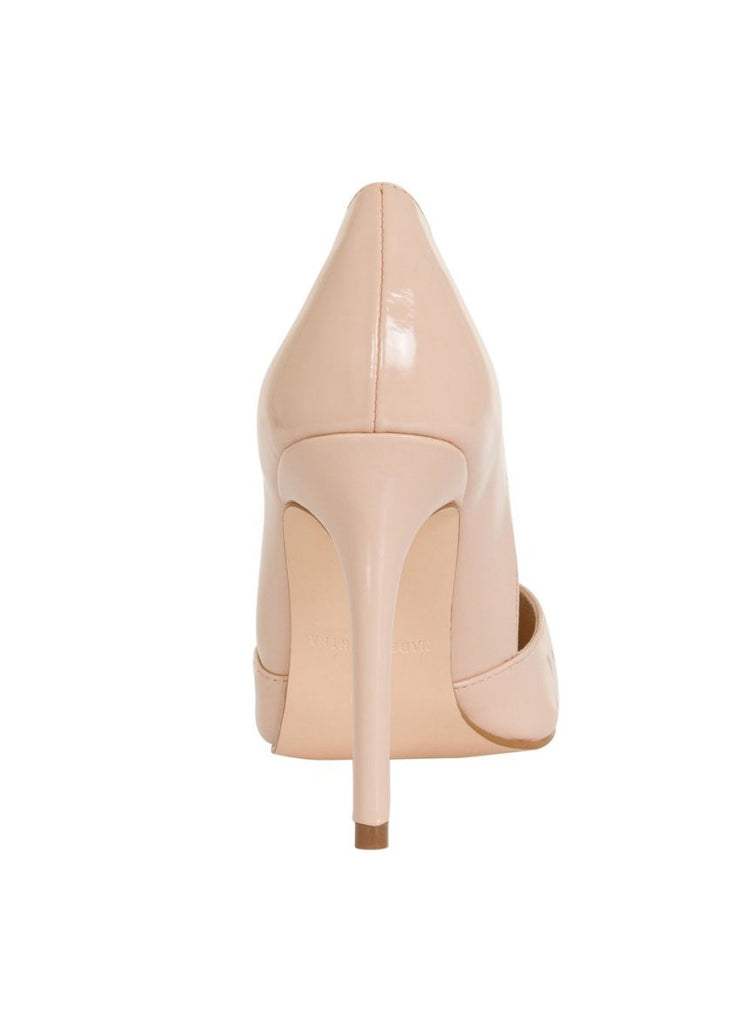London Rebel | Felicity Nude Slip On Sharp Point Toe | Back View