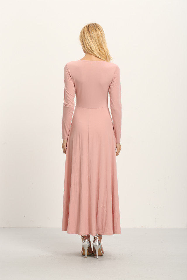 London Rebel | Bella Pale Pink Maxi Dress | Lifestyle Image | Back View