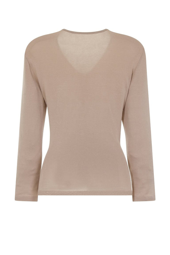 London Rebel | Hilda Nude Wrap Over V-neck | Back View